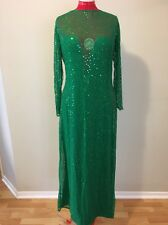 Drag Queen Green Evening Gown
