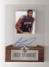Andre Drummond 12/13 Limited on card Auto Rookie #166 Serial #63/199