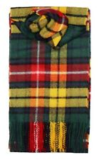 Mens/Ladies Buchanan Modern Tartan 100% Scottish Lambswool Scarf