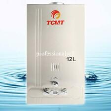3.2 GPM 12L Natural Gas Hot Water Heater Stainless Steel Tankless Instant Bolier