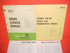 1971 CORVETTE CAMARO FIREBIRD GTO 442 DELCO AM-FM STEREO RADIO SERVICE MANUAL 71