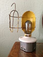 VTG YELLOW STEAMPUNK INDUSTRIAL CAGE LIGHTs / LAMPs HANGING LIGHT OR TABLE TOP