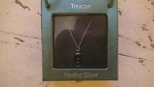 Toucan of Scotland Sterling Silver Rectangle drop Pendant Necklace 5252