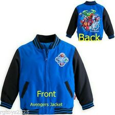Disney Marvel Avengers Varsity Jacket childs Sz 5-6 S New Hulk Thor Ironman Capt
