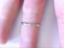 Nice 18K White Gold India Thin Band Ring. Plain/Simple. WEAR OR STACK! 7 US SIZE