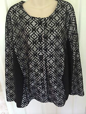 CHESCA SUPERB LACE OVERLAY JACKET SZ 24 WORN ONCE IMMACULATE CONDITION