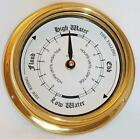 BRASS OR CHROME MARINE TIDE CLOCK Artisan - crafted by us in 1996