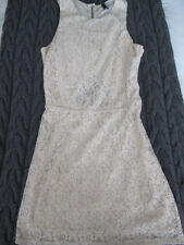 Ladies cream lace dress fitted short size 8