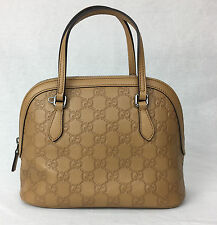 NEW Gucci 341504 Whisky GG Leather Convertible Crossbody Mini Dome Purse