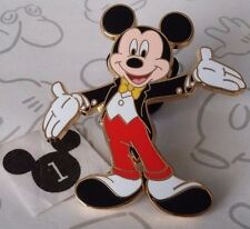 Mickey Mouse in Tuxedo Tie & Tails Movie Star Red Pants Hands Spread Disney Pin