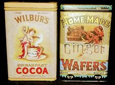 Vintage Set Of Tins-Ginger Wafers, Wilbers Cocoa