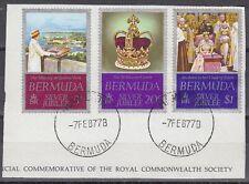 Bermuda 1977 Θ Mi.336/38 Regentschaft Silver Jubilee Queen Elizabeth [sq7115]