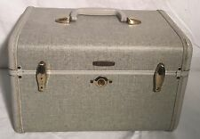 Used Vintage SAMSONITE Makeup Train Case Jewelry Box Cosmetic Bag Organizer