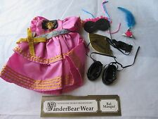 Muffy Vanderbear Bear BAL MASQUE Costume/Outfit Dress/Shoes Masked Ball Clothes