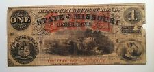 $1 State of Missouri Defence Bond Cool Bee Line Route Rail Road Advertisement