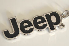 Jeep Badge Black Silver Metal Keyring Compass Cherokee Patriot Wrangler Renegade