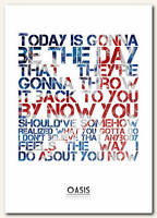 OASIS - Wonderwall 3 - song lyric poster typography art print - 4 sizes