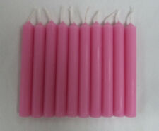 "Lot of 10 Chime Spell Candles: Pink, Mini 4"" (NEW) Pagan, Wicca, Altar, Ritual"