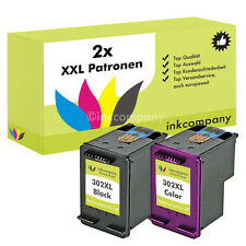2x PATRONEN HP 302 XL OfficeJet 4654 3830 3834 4650 DeskJet 2130 3630 1110 3630