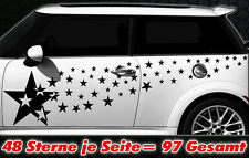 97 Sterne Star Auto Aufkleber Set Sticker Tuning Shirt Stylin WandtattooTribel p