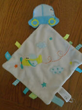 Simba Dickie comfort blanket with car and airplane. Baby boy.