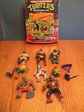 Vintage Lot of  Teenage Mutant Ninja Turtles Action Figures TMNT  and Case