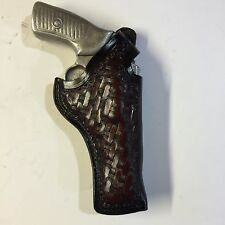 """Ruger SP101 3"""", 3 1/16"""" Barrel Thumb Break Right Hand Leather Holster"""