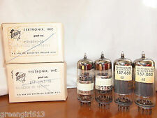 4 Vintage Tektronix 12BY7 Audio Tubes  For Harman Kardon Ampifiers Results =