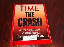 TIME MAGAZINE 1987 NOVEMBER 2 THE STOCK MARKET CRASH ROBERT SOLOW FRANK STELLA