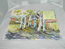 VTG Original Art John Bokeny Connecticut Artist Proof Watercolor Landscape