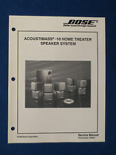 BOSE ACOUSTIMASS 10 HOME THEATER SPEAKER SERVICE MANUAL ORIGINAL GOOD CONDITION