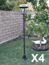 "4 Pack 67"" Solar Powered Lamp Post Light with Bright LED Bulb Garden Adjustable"