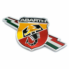 New Abarth Shield Badge Emblem Decal  Boot Tail Gate Suitable For Fiat 500 Punto