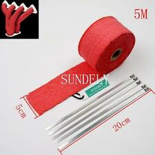 5M RED EXHAUST HEADER PIPE TAPE WRAP INSULATION CLOTH FIREPROOF COOL AIR 1-PCS