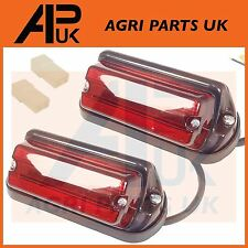 PAIR Leyland Nuffield 345,465 Tractor Rear Side Light Lamp Square Fender Plastic