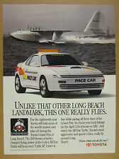 1992 Toyota Grand Prix of Long Beach Celica All-Trac Turbo Pace Car vintage Ad