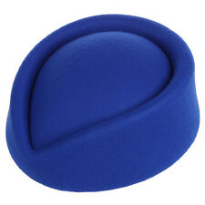 New Elegant Wool Felt Pillbox Stewardess Air Hostesses Beret Hat Party Base A6C9