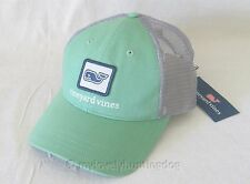 NWT vineyard vines Mens Whale Patch Trucker Mesh Baseball Hat Cap Green