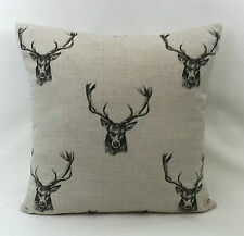 """Fryetts Stag Cushion Cover 20"""" x 20"""" Double Sided Fully Reversible"""