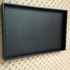 Toiletries Display Tray Black Faux Leather Large Hotel Guest House B & B