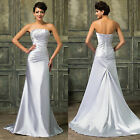 Beadings Long Formal Wedding Bridesmaid Prom Party Evening Gown Cocktail Dress