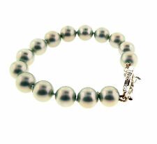 Carolee Gray Pearl Bracelet Silver tone toggle