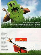 Publicité 1996  OUTILS WOLF tondeuse à gazon jardin pelouse