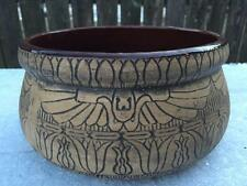 Antique WESTERN Stoneware EGYPTIAN Revival Jardiniere Flower Pot Arts & Crafts