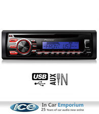 Pioneer DEH-1700UBB car stereo, CD MP3 USB Auxiliary in
