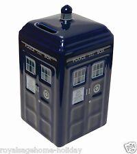 DR163 Doctor Who Tardis Savings Piggy Bank Time Machine BBC Police Call Box
