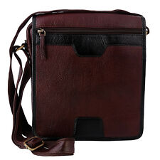 Leather Messenger Bag Shoulder Cross Body Satchel Men Genuine Brown