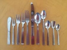 93 GIO PONTI/ART KRUPP Midcentury Stainless Flatware for 8 + Serving Pieces
