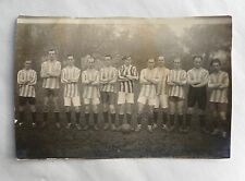 1930s B/W Photograph. Football Team. Amateur 'Gentleman's' Team. Odd Team Kit