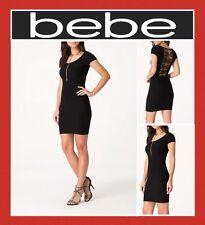 bebe SLASH BACK DRESS BODYCON MINI CLUB COCKTAIL SEXY SZ P/S (NEW)